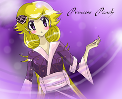 Purple Kimono Peach by SomeJaneDoe