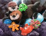 coco and jet baby sea otters by Psithyrus