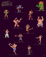 Street Fighter 2 Pixelart by ShroomArts