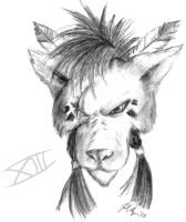 Red XIII Sketch by JoelAndrewMorgan