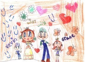 Luigi x Daisy's kids:Grace and Kevin!! by PrincessDaisyRocks10