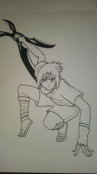 Sasuke Request for ChicaBaby19 by WynterborneInk