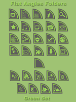 Flat Angles Folders - Green by WickedDesktop