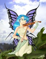 Violin Fairy by Lil-R-Mena