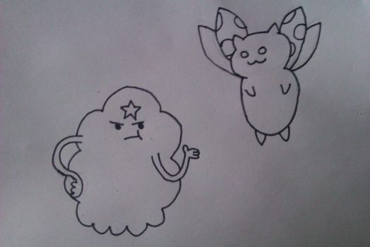 LSP and Catbug by duffbeerz