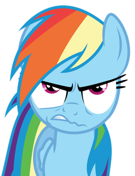 Rainbow Dash is Peeved by Reginault