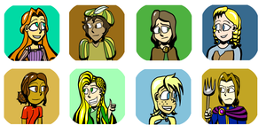 Grimmsicle Character Icons by AngelAndChangeling