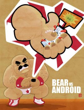 Bear vs Android by Kerainen