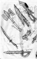 Various RPG Style weapons by IvanTheLoneWolf