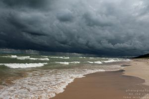 Stormy Lake Michigan by DJCandiDout