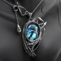 NYTHENDRALL - silver and labradorite by LUNARIEEN