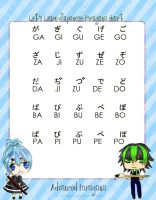 Hiragana Chart - Advanced by Blackheartprincess