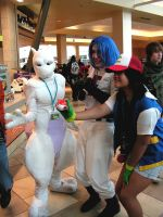 James Mewtwo and Ash, Pokemon by lost-capella