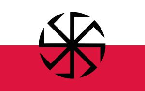 Kolovrat Poland (Flag seen on Youtube) by KrwiiKorzeniePolska
