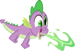 Spike Breathing Fire by Spyro4287