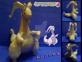 Goodra papercraft by javierini
