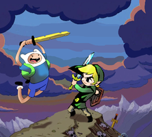 link vs finn by clebersan