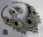 Soutache complect in Grey by caricatalia