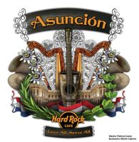Logo remera de Hard Rock Cafe Asuncion by MartinCp
