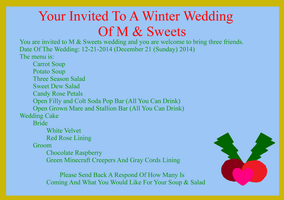 You'r Invited To A Winter Wedding by momom2012
