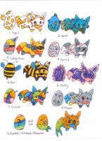 Egg Adopts-HATCHED-CLOSED- by TheFrymon
