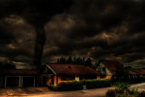 Tornado Outside my house HDR by TonistL