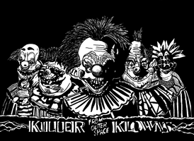 Killer Klowns from outer space by ladyjart