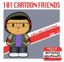 101 Cartoon Friends book by thisisanton