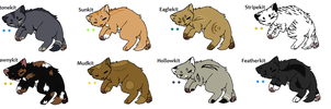 Warrior cat Adopts 4 *KITS* Open 1 left by Evertooth