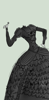 Old-fashioned dress (Quick) scetch by hyperster