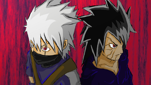 Kakashi and Obito by S-Skunk