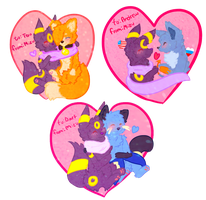 Valentines for those guys by wumbreon