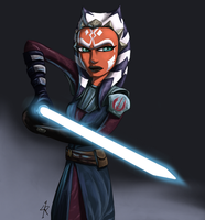 Ahsoka as the Chosen One. by Raikoh-illust