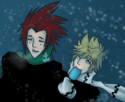 Blue Holiday Axel and Roxas by Kiriska