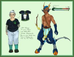 UnE OC - xX:Backpain:Xx and Thurus by EriciusLux