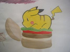 Pikachu Burger by artistJP