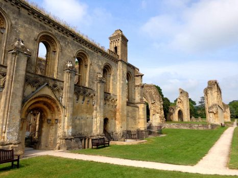 Glastonbury Abbey 3 - June 2016 by MorgainePendragon