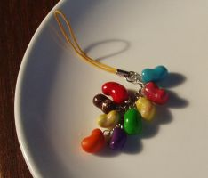 Jelly Bean Phone Charm by Cinnamonster