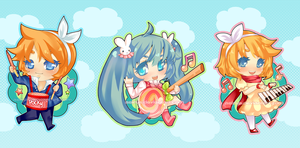Vocaloid: Rock Candy Set by Aeirus