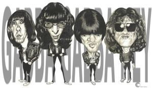 The Ramones by PapaBurgundy