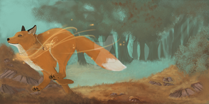 Fall Fox by FoxTaleStudio