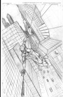 Spiderman the Swinger by MikeVanOrden