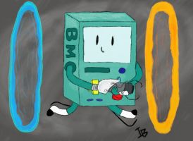 Portal Time! with Beemo by DeadAppleToast