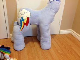 WIP - Rainbow Dash custom plush by Kitamon