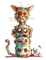 Team Zombie Cats Totem by BYRONvonREMPEL