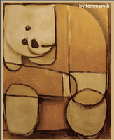 bear painting abstract by TOMMERVIK