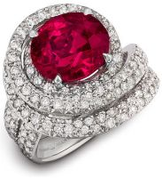 Rare Ruby And Diamond Ring by DianaVincent