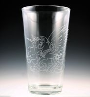 Princess Celestia Pint Glass by Yukizeal