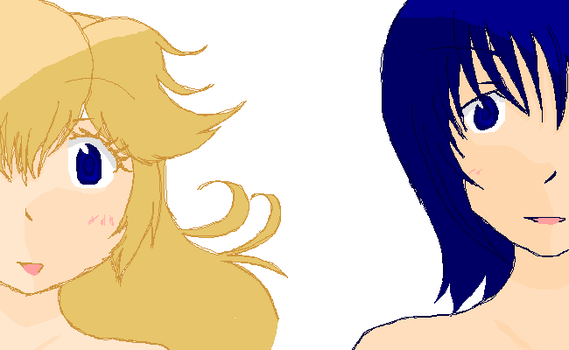 Peach and Marth by lime123