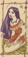 Pocahontas on parchment by TaijaVigilia
